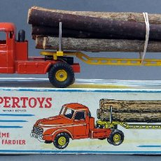 Model Cars - Camión troncos Tracteur Willeme remorque fardier Dinky SuperToys Made in France con caja 36 A 1/43 - 120535083