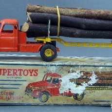 Model Cars - Camión troncos Tracteur Willeme remorque fardier Dinky SuperToys Made in France con caja 36 A 1/43 - 120535251