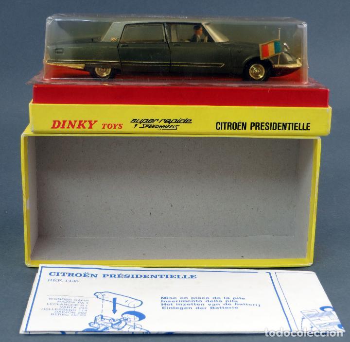 Coches a escala: Citroen Presidentielle Dinky Toys Made in France con caja 1435 1/43 años 70 - Foto 2 - 120545959