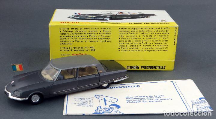 Coches a escala: Citroen Presidentielle Dinky Toys Made in France con caja 1435 1/43 años 70 - Foto 3 - 120545959