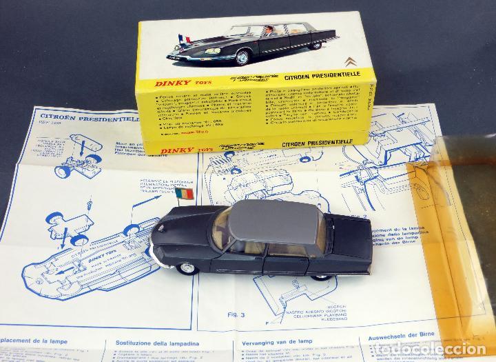Coches a escala: Citroen Presidentielle Dinky Toys Made in France con caja 1435 1/43 años 70 - Foto 4 - 120545959