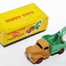 Coches a escala: DINKY TOYS 430 - GRUA DINKY SERVICE - BREAKDOWN LORRY - CAJA ORIGINAL - AÑOS 60. Lote 121110023