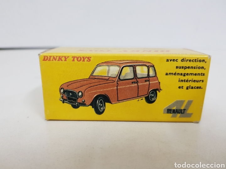 Coches a escala: Caja réplica Dinky Toys referencia 518 renault 4l - Foto 2 - 139066940