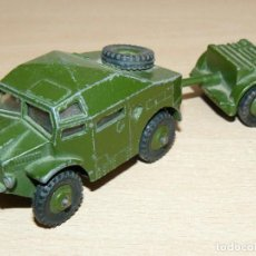 Coches a escala: 27. DINKY TOYS FIELD ARTILLERY TRACTOR REF. 688 + TRAILER 25 MECCANO LTD ENGLAND ARMY MILITAR UK . Lote 159965690
