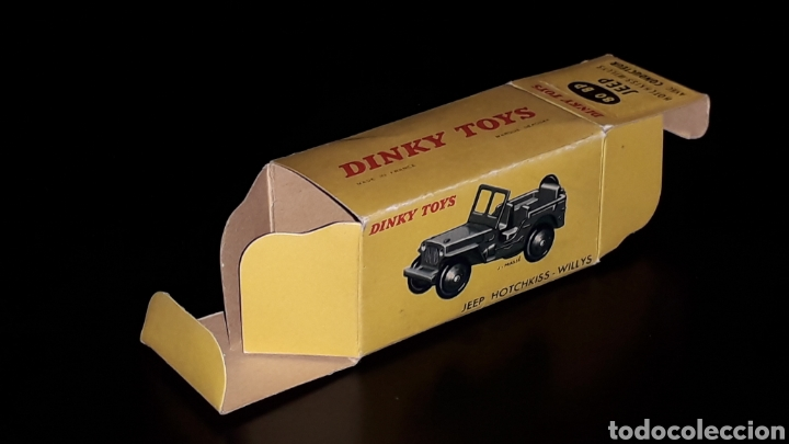 Modellautos: Caja vacía empty box Jeep Hotchkiss Willys ref. 80 BP, esc. 1/43, Dinky Toys. Original años 60. - Foto 2 - 160643753