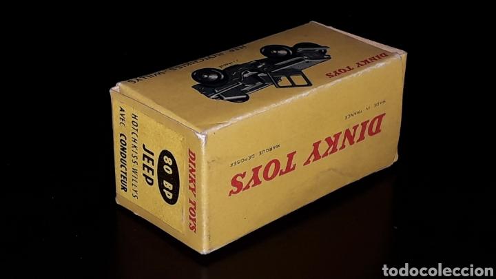 Modellautos: Caja vacía empty box Jeep Hotchkiss Willys ref. 80 BP, esc. 1/43, Dinky Toys. Original años 60. - Foto 6 - 160643753