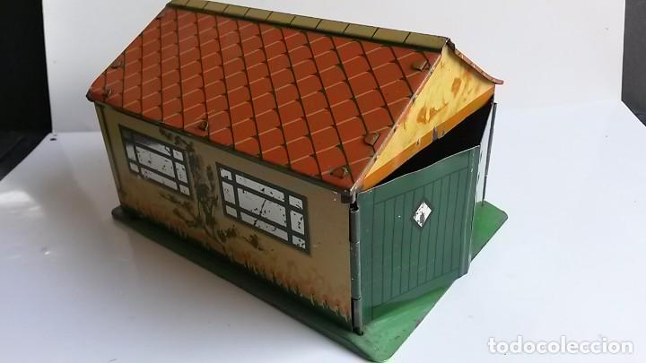 DINKY TOYS - PRE-WAR 1937- GARAGE IN TINPLATE/TÔLE - EXCELLENT (Juguetes - Coches a Escala 1:43 Dinky Toys)