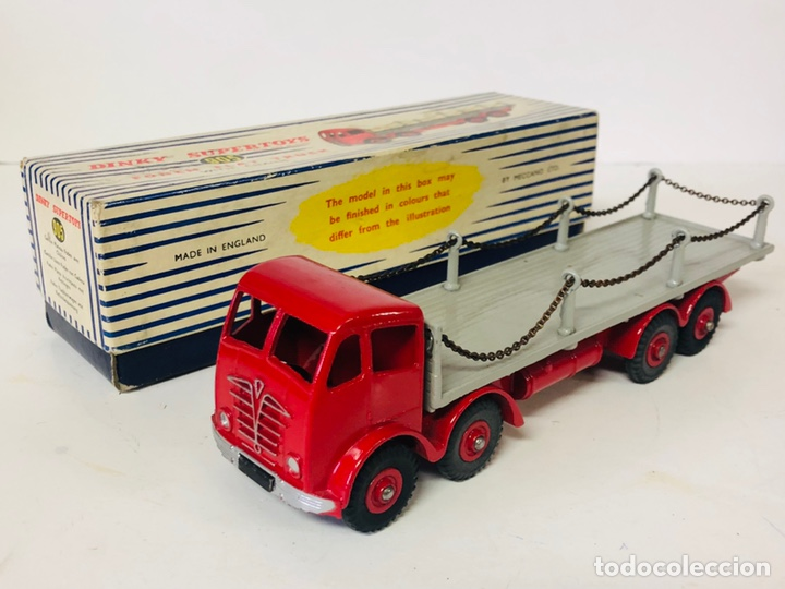 DINKY SUPERTOYS BY MECCANO REF 905 FODEN FLAT TRUCK WITH CHAINS MADE IN ENGLAND ALL ORIGINAL (Juguetes - Coches a Escala 1:43 Dinky Toys)