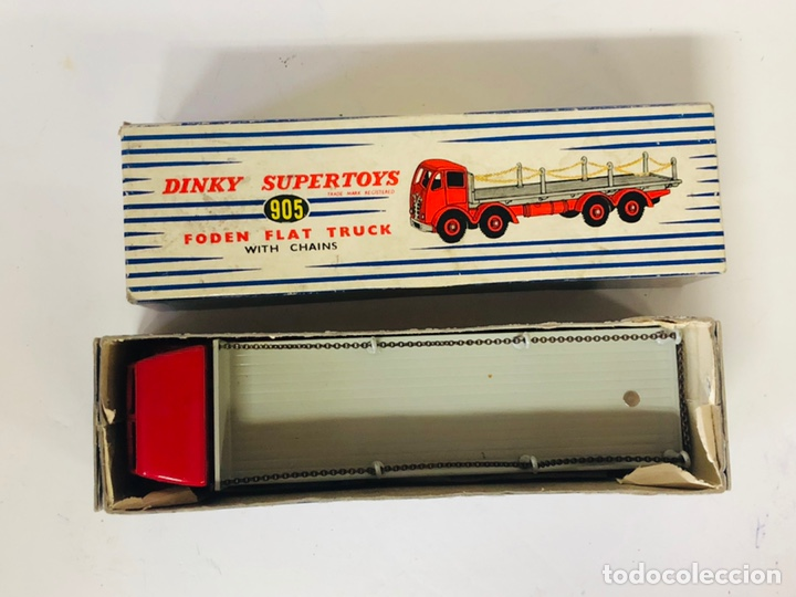 Coches a escala: Dinky Supertoys By Meccano Ref 905 FODEN FLAT TRUCK with CHAINS Made In England ALL ORIGINAL - Foto 9 - 166331428