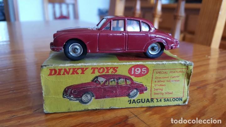 JAGUAR 3.4 SALOON-DINKY TOYS MECANO. MADE IN ENGLAND. ESCALA 1:43. CAJA ORIGINAL REF 195. VER FOTOS. (Juguetes - Coches a Escala 1:43 Dinky Toys)