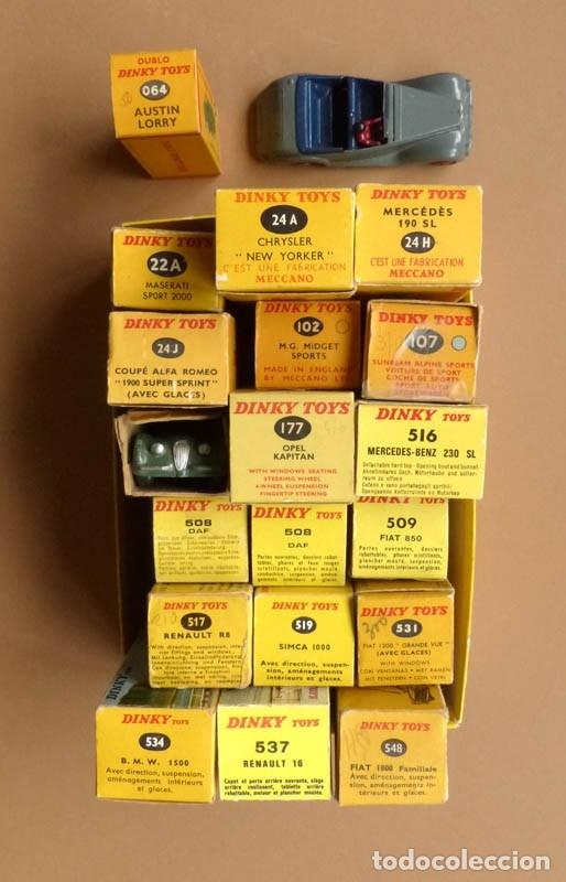 Coches a escala: DINKY TOYS 102-157-177-519-517..Y MAS. ORIGINAL-CAJAS-AÑOS 50-70. -MUY BUEN ESTADO-20 COCHES - Foto 3 - 176951937