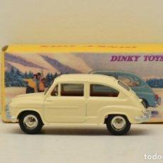 Coches a escala: FIAT 600 D WHITE DINKY TOYS 1/43 MATTEL NUEVO EN SU CAJA. Lote 278199103