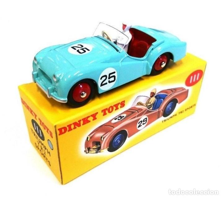 DINKY TOY CAR REF 111 TRIUMPH TR2 SPORTS NUEVO EN CAJA ORIGINAL (Juguetes - Coches a Escala 1:43 Dinky Toys)