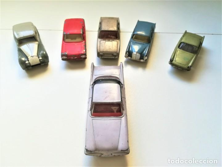 DINKY TOYS,COLECCION 6 COCHES,AÑOS 50/60.RENAULT FLORITE,CRYSLER,MERCEDES,FORD,CHEVROLET,ROLLS ROYCE (Juguetes - Coches a Escala 1:43 Dinky Toys)