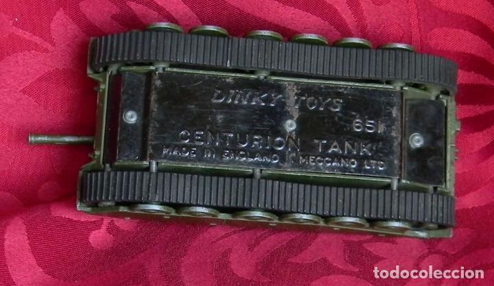 Coches a escala: DINKY TOYS 651 CENTURION TANK - AÑO 1954 - METALICO - MECCANO LTD - MADE IN ENGLAND - BUEN ESTADO - Foto 9 - 186226987