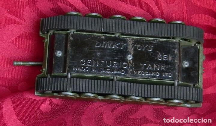 Coches a escala: DINKY TOYS 651 CENTURION TANK - AÑO 1954 - METALICO - MECCANO LTD - MADE IN ENGLAND - BUEN ESTADO - Foto 10 - 186226987