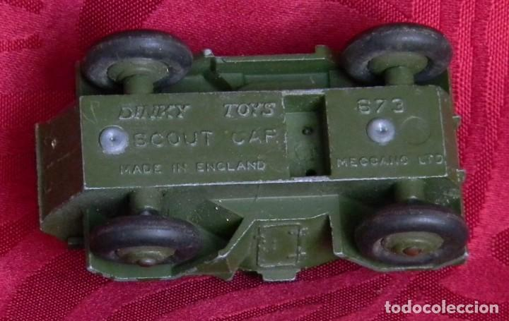 Coches a escala: DINKY TOYS 673 SCOUT CAR - AÑO 1953 - METALICO - MECCANO LTD - MADE IN ENGLAND - Foto 8 - 186227196