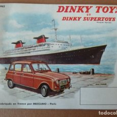 Coches a escala: ANTIGUO CATALOGO-DINKY TOYS ET DINKY SUPERTOYS-1962. Lote 191127095