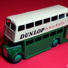 Coches a escala: DOUBLE DECKER BUS *DUNLOP* REF. 290, METAL 10,2 CMS. DINKY TOYS MADE IN ENGLAND, ORIGINAL AÑOS 50.. Lote 191318806