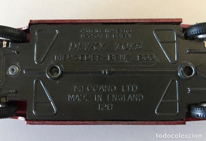 Coches a escala: DINKY TOYS MERCEDES-BENZ 600 – ROJO - MODELO 128 - VINTAGE 1964 MECCANO ENGLAND - Foto 14 - 192909617