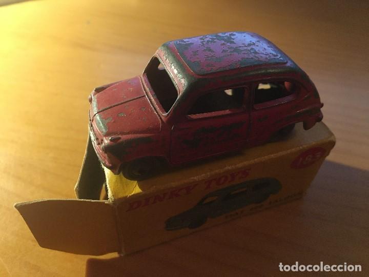 Coches a escala: FIAT 600 DINKY TOYS ref.183 + caja - Foto 2 - 193018203