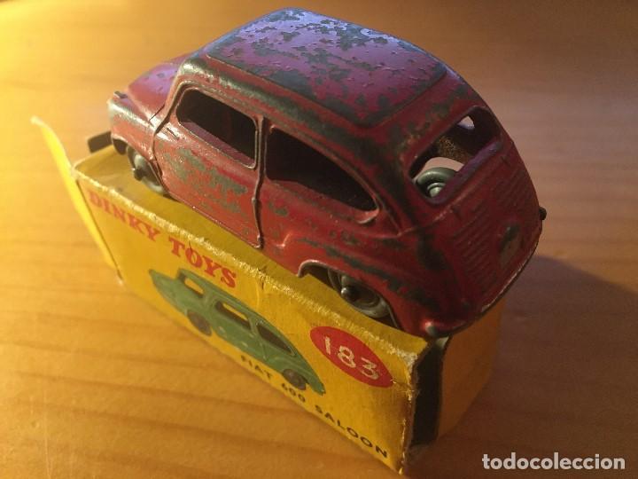 Coches a escala: FIAT 600 DINKY TOYS ref.183 + caja - Foto 6 - 193018203