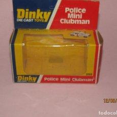 Coches a escala: CAJA VACÍA DEL MINI CLUBMAN POLICE REF. 255 ESC. 1/43 DE DINKY TOYS MADE IN ENGLAND AÑO 1977. Lote 204055553