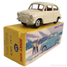 Coches a escala: DINKY TOYS 520 FIAT 600 D PERLA METAL - NUEVO EN CAJA. Lote 218642501
