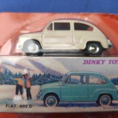Coches a escala: DINKY TOYS ATLAS FIAT 600, 1/43, REEDICIÓN. NUEVO Y EN CAJA. Lote 218691055