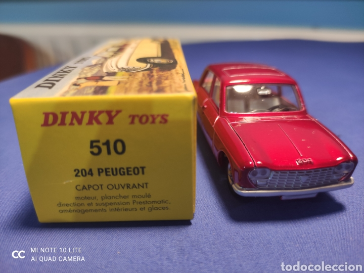 Coches a escala: DINKY TOYS ATLAS PEUGEOT 204 1/43, REEDICIÓN. NUEVO Y EN CAJA - Foto 2 - 220740841