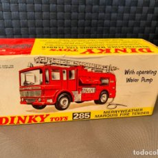 Coches a escala: DINKY TOYS CAJA VACIA 285 MERRYWEATHER MARQUIS FIRE TENDER. Lote 221103295
