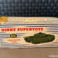 Coches a escala: DINKY TOYS CAJA VACIA 651 CENTURION TANK. Lote 221104023