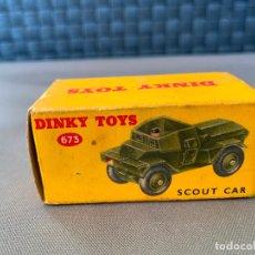 Coches a escala: DINKY TOYS CAJA VACIA 673 SCOUT CAR. Lote 221104147