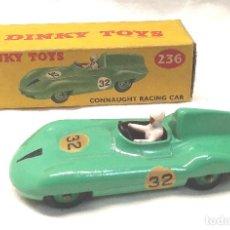 Coches a escala: CONNAUGHT RACING CAR COCHE CARRERAS DE DINKY TOYS AÑO 1956, MADE IN ENGLAND REF. 236, BUEN ESTADO.. Lote 241235690