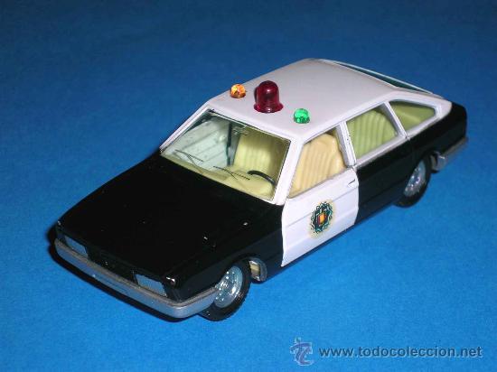 Coches a escala: Chrysler 150 policía, fabricado en metal, escala 1/43, Pilen. Original años 70. Excelente. - Foto 2 - 36648441
