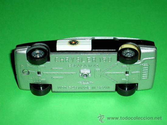 Coches a escala: Chrysler 150 policía, fabricado en metal, escala 1/43, Pilen. Original años 70. Excelente. - Foto 6 - 36648441