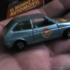 Model Cars - Coche Ford Fiesta Pilen Gulf Pirelli celeste metalizado chasis metalico 806 Made Spain - 37507761