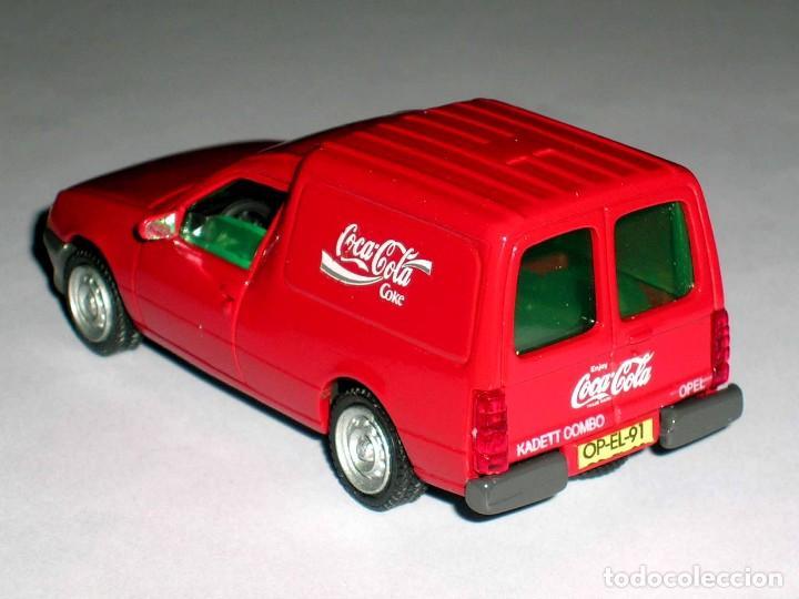 Coches a escala: Opel Kadett Kombo furgoneta Coca-Cola Coke, metal esc 1/43, AHC Pilen, original año 1991. A estrenar - Foto 3 - 64516219