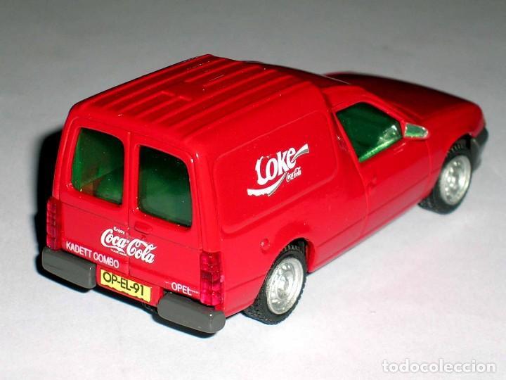 Coches a escala: Opel Kadett Kombo furgoneta Coca-Cola Coke, metal esc 1/43, AHC Pilen, original año 1991. A estrenar - Foto 4 - 64516219