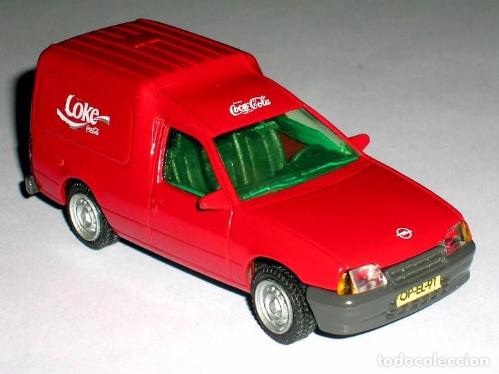 Coches a escala: Opel Kadett Kombo furgoneta Coca-Cola Coke, metal esc 1/43, AHC Pilen, original año 1991. A estrenar - Foto 5 - 64516219