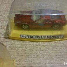 Coches a escala: LOTE 410 - COCHE ESCALA M-313 DE TOMASO MANGUSTA. Lote 68380713