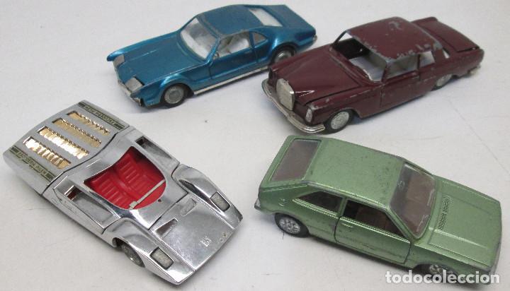 COCHES AUTO PILEN,VW VOLKSWAGEN SCIROCCO,FERRARI 512 S,OLDSMOBILE TORONADO,MERCEDES 250 COUPE,1/43 (Juguetes - Coches a Escala 1:43 Pilen)