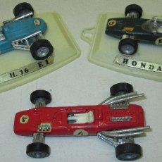 Auto in scala: LOTE 3 COCHES CARRERAS F1, PILEN, HONDA V.12, FERRARI Y EAGLE. Lote 102503199