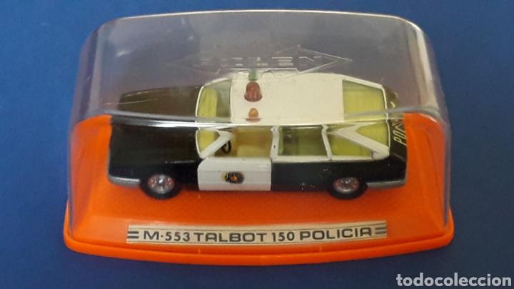 Coches a escala: Talbot 150 Policía ref. 553, metal esc. 1/43, Pilen made in Spain, original años 80. Con caja. - Foto 2 - 157779562