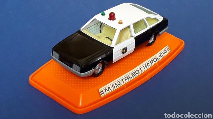 Coches a escala: Talbot 150 Policía ref. 553, metal esc. 1/43, Pilen made in Spain, original años 80. Con caja. - Foto 3 - 157779562