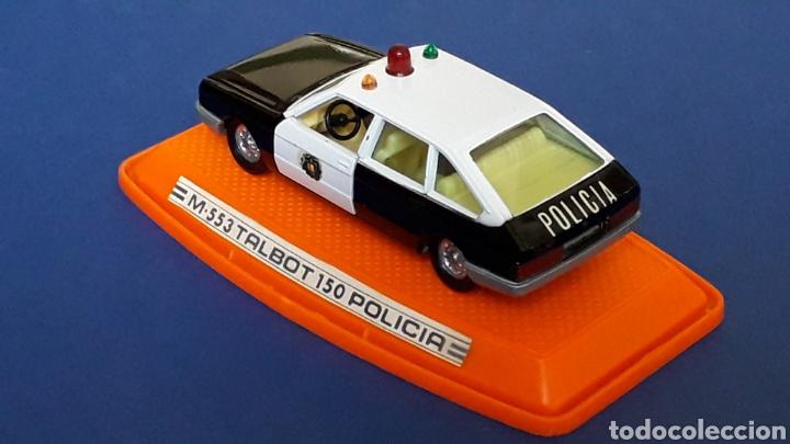 Coches a escala: Talbot 150 Policía ref. 553, metal esc. 1/43, Pilen made in Spain, original años 80. Con caja. - Foto 4 - 157779562