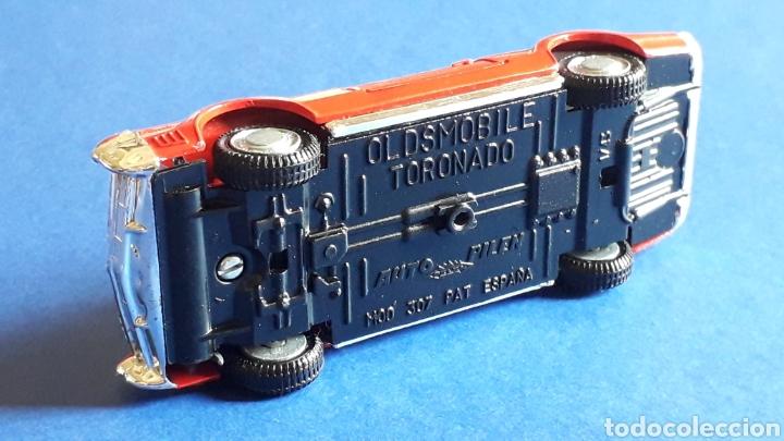 Coches a escala: Oldsmobile Toronado bomberos Fire Chief, metal, esc. 1/43, Pilen made in Spain, original años 70-80. - Foto 9 - 167756892