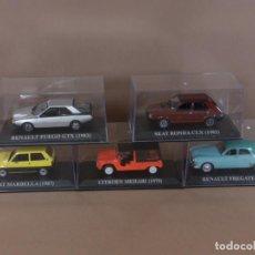 Model Cars - IXO ALTAYA LOTE 5 COCHES SEAT CITROEN RENAULT ESC 1/43 NUESTROS QUERIDOS COCHES PILEN - 168861256