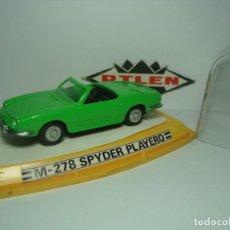 Coches a escala: SEAT 850 SPIDER SPYDER PLAYERO DE PILEN 1,43 NUEVO EN SU CAJA. Lote 184284052