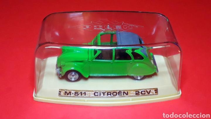 Coches a escala: Citroën 2CV 2 CV ref. 511, metal esc. 1/43, Pilen IBI made in Spain, original años 70. Con caja. - Foto 2 - 189384796
